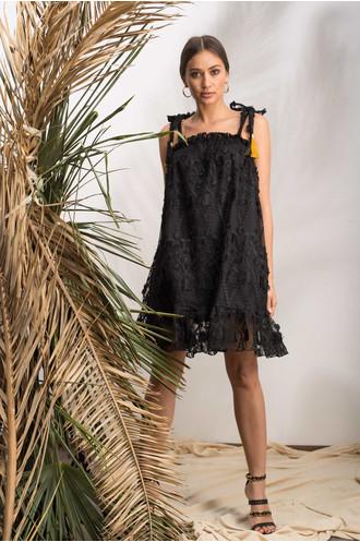 Φόρεμα μαύρο με τιράντες